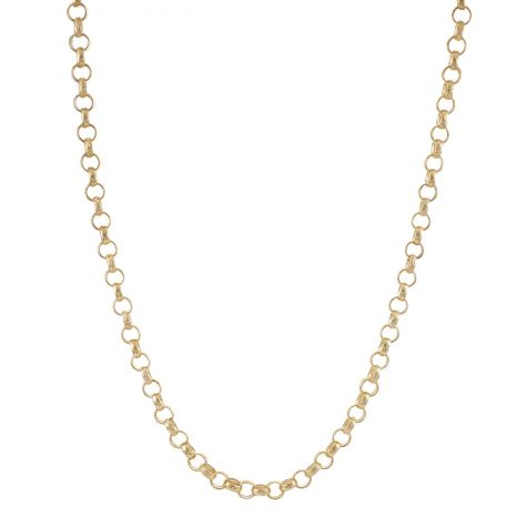 """Solid 9ct Yellow Gold Textured Child's Belcher Chain -16"""" - 7.5mm"""
