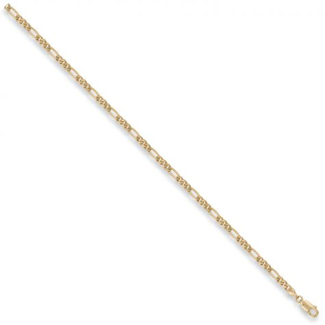 "9ct Yellow Gold Solid Italian Made Figaro Chain - 3mm - 16"" - 30"""