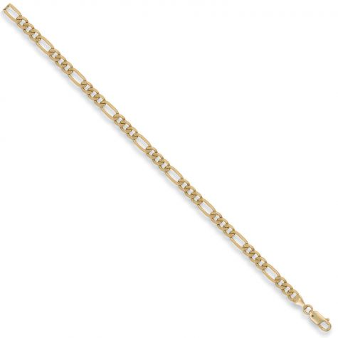 "9ct Yellow Gold Solid Italian Made Figaro Chain - 5mm - 16"" - 30"""