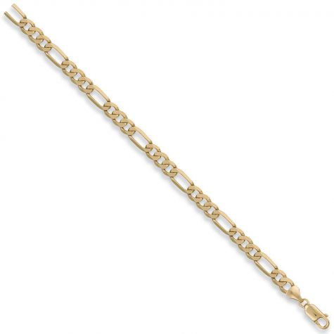 "9ct Yellow Gold Solid Italian Made Figaro Chain - 6.5mm - 18"" - 30"""