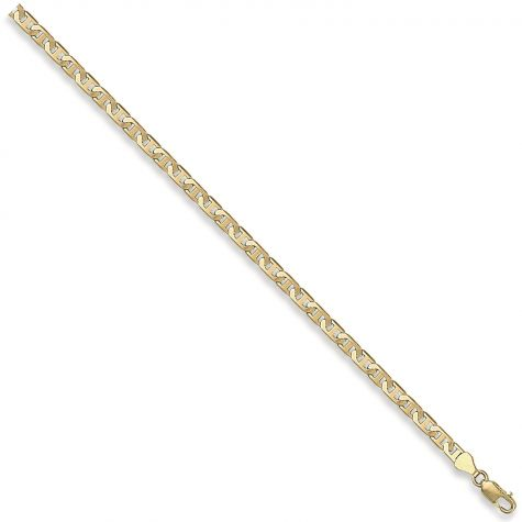 "9ct Yellow Gold Italian Flat Anchor Chain - 4.5mm - 16"" - Ladies"