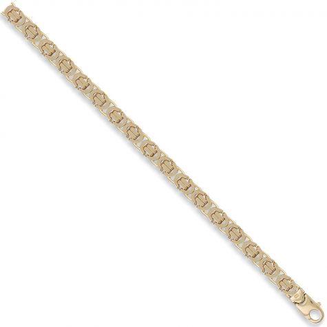 "9ct Yellow Gold Italian Made Byzantine Chain - 7.25mm  - 20"""