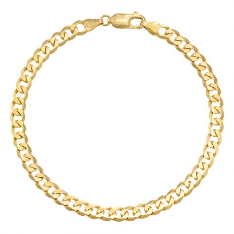 """9ct Yellow Gold Classic Curb bracelet - 5.5mm - 8.25"""" - Gents"""