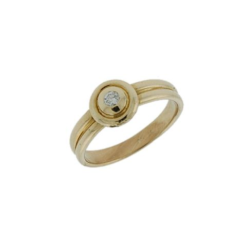 Pre-Owned 14ct Gold 0.08ct Solitaire Diamond Engagement Ring