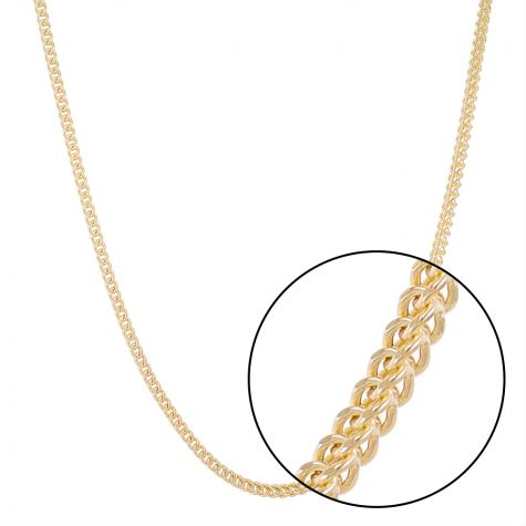 "9ct Yellow Gold Italian Made Franco / Foxtail Chain - 22"" - 2.5mm"