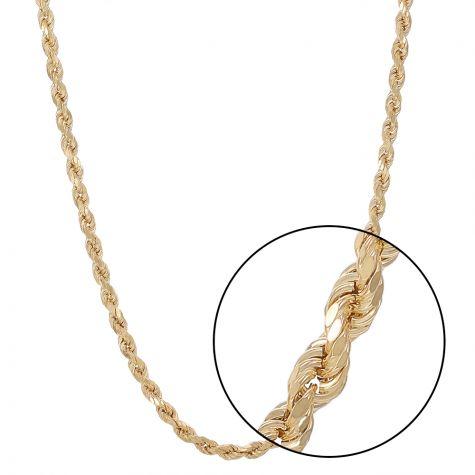 "9ct Yellow Gold Italian Made Classic Rope Chain - 26"" - 6mm"