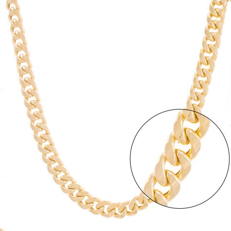 Huge 9ct Yellow Gold Italian Miami Cuban Chain - 11mm - 24""