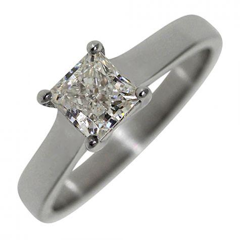 Pre-Owned Platinum .80ct Diamond Engagement Ring -IGI CERTIFICATE