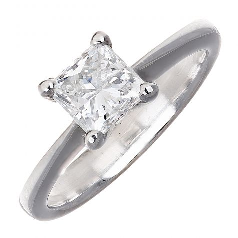 CERTIFIED 18ct Gold 1.04ct Diamond Solitaire Engagement Ring