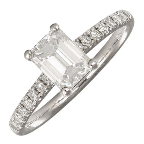 CERTIFIED 18ct White Gold 1.19ct Diamond Engagement Ring