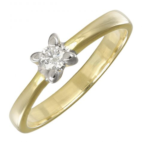 Pre-Owned 18ct Yellow Gold 0.10ct Diamond Engagement Ring