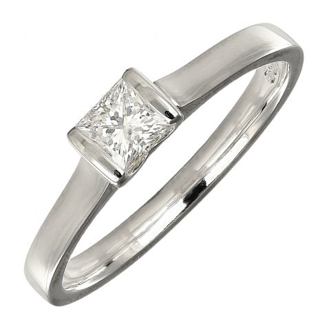 Pre-Owned 18ct  Gold 0.33ct Diamond Solitaire Engagement Ring