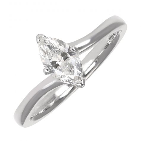 Pre-Owned 950 Platinum 0.50ct Diamond Solitaire Engagement Ring