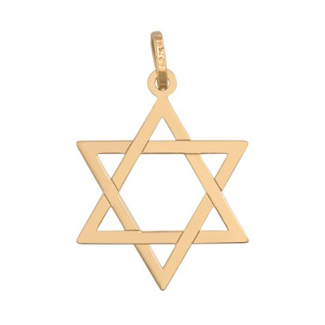 9ct Yellow Gold  Star of David Pendant - 25mm