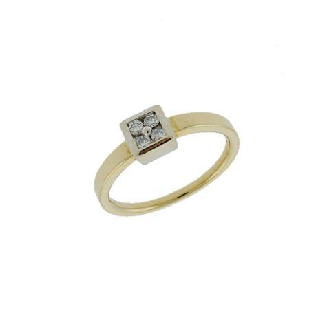 Pre-Owned 18ct Gold 0.20ct Diamond Engagement Ring