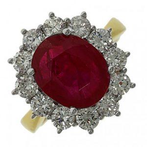 Diamond Cluster Engagement Ring