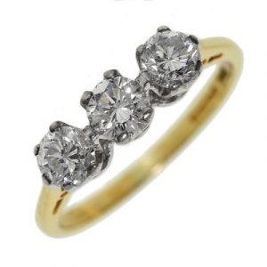 Diamond Trilogy Engagement Ring