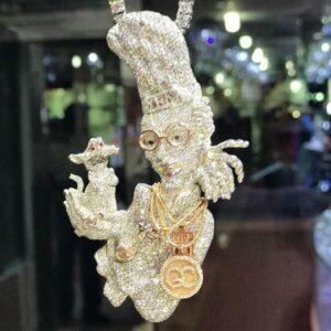 Quavo Ratatouille Gold Pendant - Hatton Jewellers