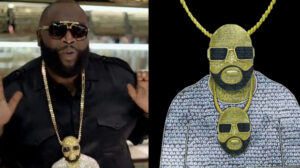 Rick Ross Wearing A Chain Of Himself Wearing A Chain - Hatton Jewellers