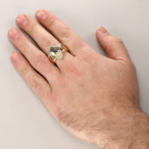 Mens Heavy Gold Claddagh Ring - Hatton Jewellers