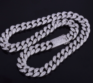 Iced Out Platinum Miami Cuban Link Chain Roddy Ricch - Hatton Jewellers