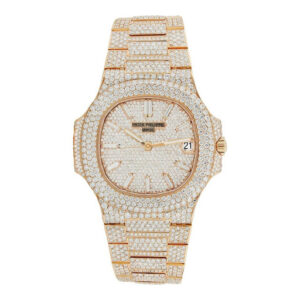Iced Out Rose Gold Patek Philippe Watch Headie One - Hatton Jewellers