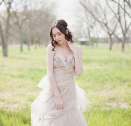 Champagne Winter Wedding Dress - Hatton Jewellers