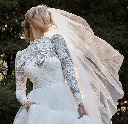 High Neck Winter Wedding Dress - Hatton Jewellers