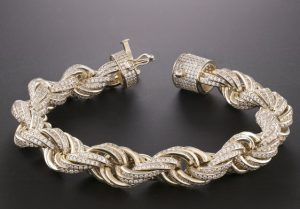Iced Out Rope Bracelet Hatton Jewellers