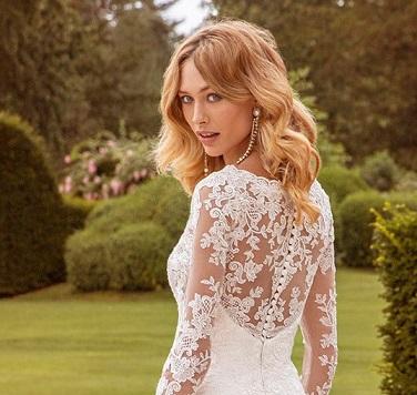 Lace Back Winter Wedding Dress - Hatton Jewellers