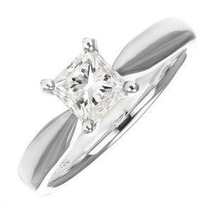 GIA Certified Platinum 1.01ct Diamond Engagement Ring