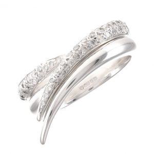 Pre-Owned 18ct White Gold Wishbone Diamond Ring Set