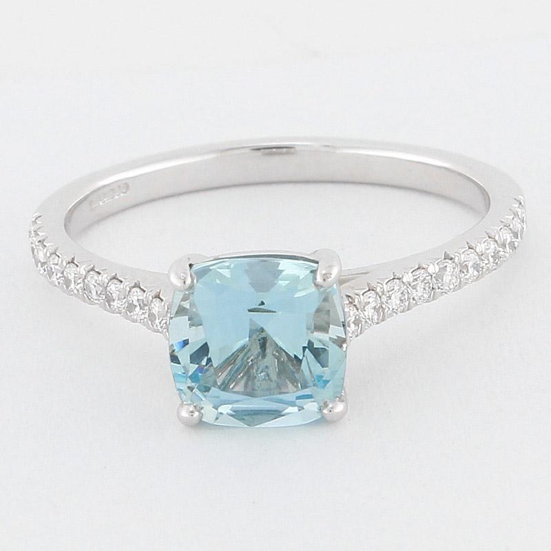 co platinum aquamarine 17ct